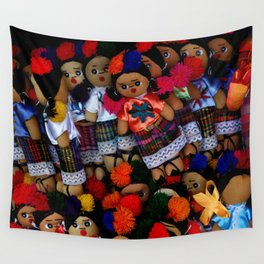 colorful dolls Wall Tapestry
