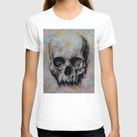 medieval T-shirts featuring Medieval Skull by Michael Creese
