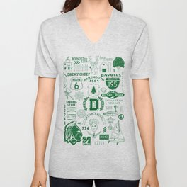 Dartmouth Massachusetts Print Unisex V-Neck