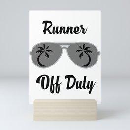 Off Duty Runner Funny Summer Vacation Mini Art Print