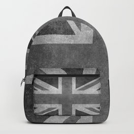 UK flag, High Quality Greyscale Retro Backpack