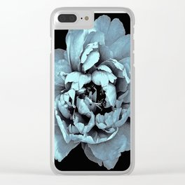 Blue Peony, Under The Floral Spell Clear iPhone Case