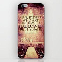 Hallowed be Thy Name iPhone Skin