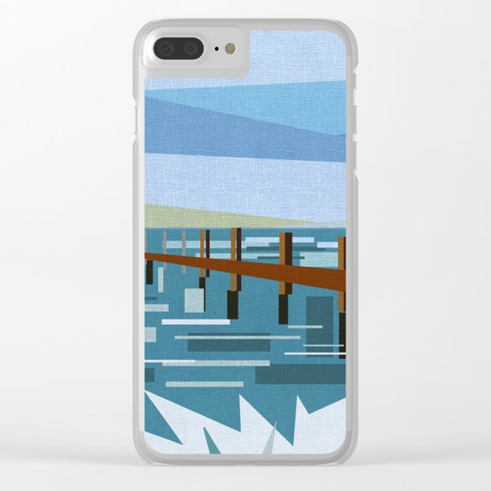 LOOKING AT THE SEA (abstract) Clear iPhone Case