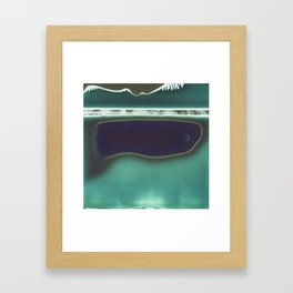 Instang Abstraction in Teal Framed Art Print