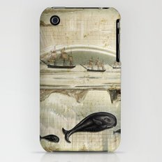 paper II :: whales/ships iPhone (3g, 3gs) Slim Case