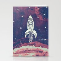 Stationery Cards featuring Space Adventure by Tracie Andrews