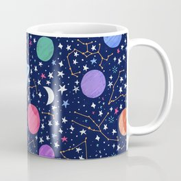 Astrology Zodiac Constellation in Midnight Blue Coffee Mug
