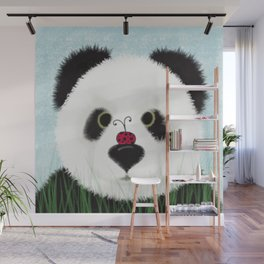 The Panda Bear And His Visitor Wall Mural