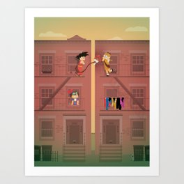 The Nick Yorkers in April Art Print