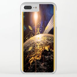 Space Tile Clear iPhone Case