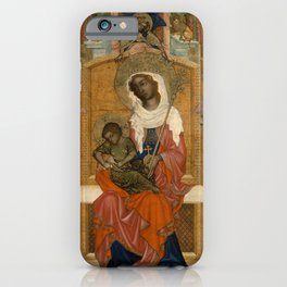 Unknown Artist (Bohemian) - Mary Enthroned with the Child (Glatz Madonna) (1350) iPhone Case