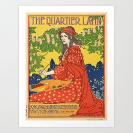Vintage poster - The Quartier Latin Art Print