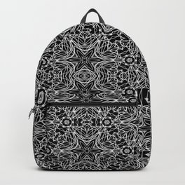 Black and white stars and squiggles 5015 Backpack