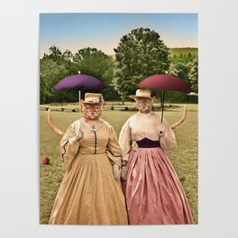 Two Pretty Kitties: Out for a Stroll Poster