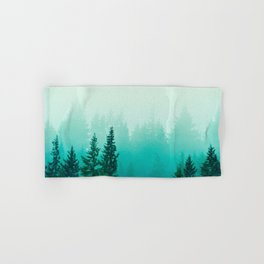 Fog Foggy Samish Forest Woods Mountain Northwest Washington Landscape Hand & Bath Towel