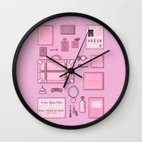 budapest hotel Wall Clocks featuring Grand Budapest Items by M. Gulin