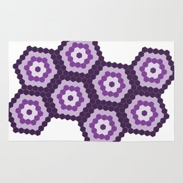 Purple Hexagon Honeycomb Rug