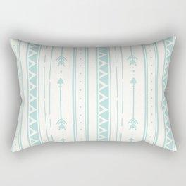 Blush blue white geometric bohemian arrows pattern Rectangular Pillow