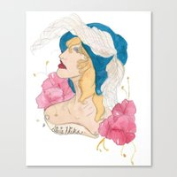 stevie nicks Canvas Prints featuring Portrait: Stevie Nicks by WildHeartArt