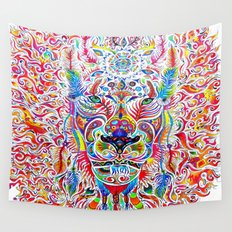 Mystic Lion Wall Tapestry