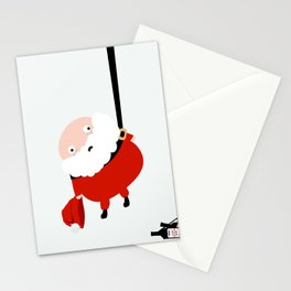 Hanging Santa Stationery Cards