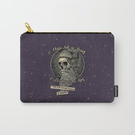 Skull with headphones and beard Carry-All Pouch