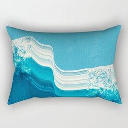 Blue Tide Rectangular Pillow