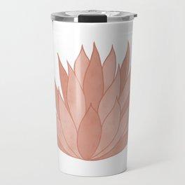 Pink Succulent Travel Mug