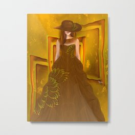 Autumn ball gown  Metal Print