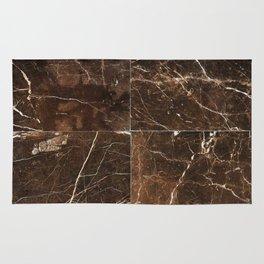 Brown Granite Squares Rug