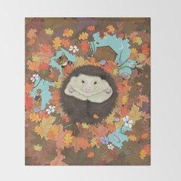 Luv Song (Hedgehog) Throw Blanket