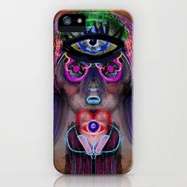 Creepy Trippy Girl iPhone Case