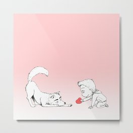 Quit Playing Fetch With My Heart Metal Print