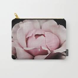 Unfurl Pink Rose Carry-All Pouch
