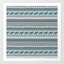 Moose Pattern Art Print