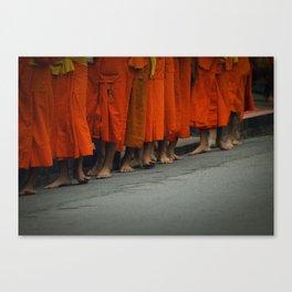 Morning alms. Luang Prabang, Laos. Canvas Print