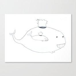 Baleineau Canvas Print