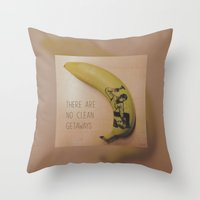 ryan gosling Throw Pillows featuring Hammertime with Ryan Gosling • DRIVE by Stephan Brusche