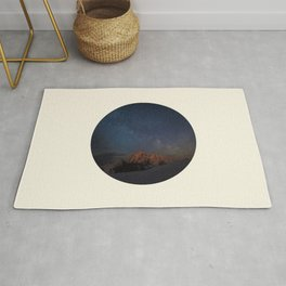 The Milky Way Galaxy & Snow Mountains Rug