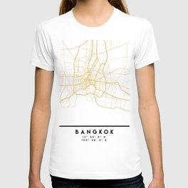 BANGKOK THAILAND CITY STREET MAP ART T-shirt