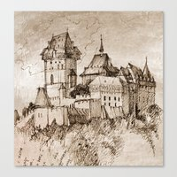 castle Canvas Prints featuring Castle by Bunny Noir
