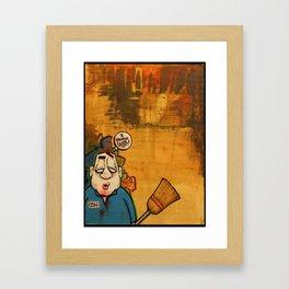 Where's the leak ma'am? Framed Art Print