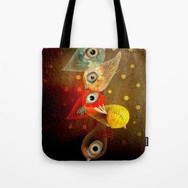 Lighting Birds Whimsical Art Tote Bag
