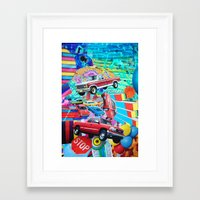cars Framed Art Prints featuring Cars by John Turck