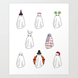 Spooky All Year Round Art Print