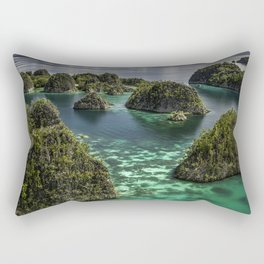 Transparent Emerald Waters and Pianoemo Island, Indonesia Photograph Rectangular Pillow