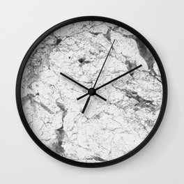 Dramatic white stone - marble Wall Clock