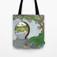 mulan Tote Bags featuring Mulan by Lesley Vamos