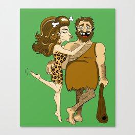 Primitive love Canvas Print